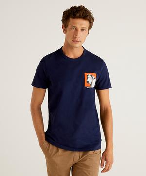 コットンフォトプリント半袖Tシャツ・カットソー