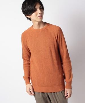 ウール混リブニット・セーター