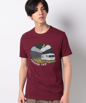 エレメントモチーフプリント半袖Tシャツ・カットソー