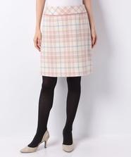 パステルチェック台形スカート