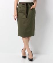 【美人百花5月号掲載】リボン付ストレッチタイトスカート