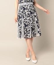 【セットアップ対応商品】マチレースプリントスカート