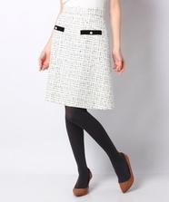 チェックツィード台形スカート