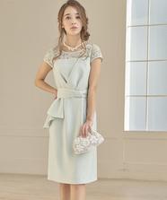 サイドフリルタイトドレス