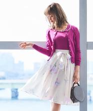 フラワーブーケスカート