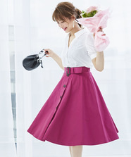 カラートレンチスカート
