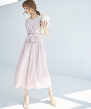 Backレースパンツドレス