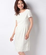 裾刺繍タイトワンピース