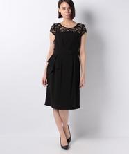 サイドフリルタイトサマードレス