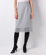 裾レースタイトスカート