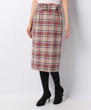 【WEB限定】チェックタイトスカート