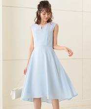 パールトリムロングドレス