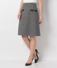 Springツィード台形スカート
