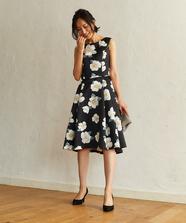 ポピーフラワープリントドレス