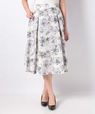 オリジナルフラワープリントスカート
