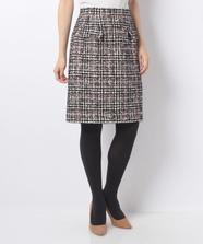 カラーチェックツィードスカート
