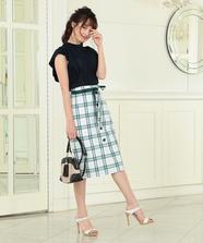 マドラスチェックタイトスカート
