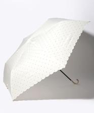 ドットグリッターヒートカット雨傘