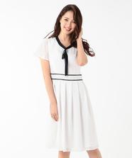 【美人百花5月号掲載】Ladyバイカラーワンピース