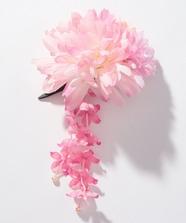 朱鷺色菊花髪飾り
