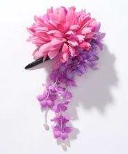 ダリア花髪飾り