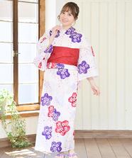 桜和柄浴衣3点Set
