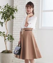 ベルト付フレアースカート