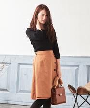リバーシブル台形スカート
