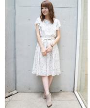 【LUMINE EST×WEB限定】フラワープリントブラウススカートSet