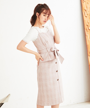 【LUMINE EST×WEB限定】ビスチェタイトスカートSet