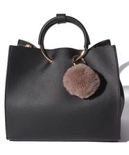 ポンポン付合皮Bag