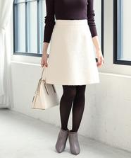 ウールシャギー台形スカート