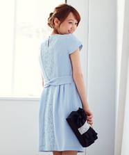 Backレースタイトドレス
