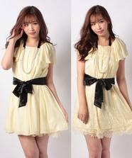 Aラインリバーシブルドレス