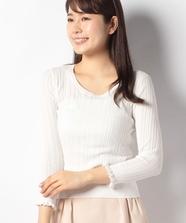 透かし柄編みプルオーバー