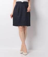 【店舗限定】ドットタイトスカート