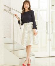【WEB限定】ドットプリントスカート