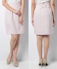 バックリボンタイトスカート