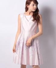 シアーフラワープリントドレス