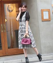 タータンチェックジャンパースカート