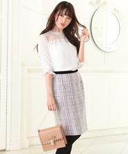 Ladyツイードタイトスカート