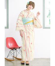 カラフルライン浴衣