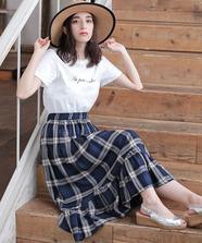 ★【WEB限定】Tシャツ×チェックスカートset