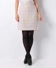 レトロチェック台形スカート