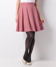 ウールミニフレアースカート
