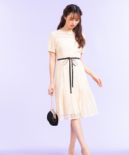 レース切替Ladyドレス