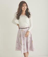 SpringFlowerプリントスカート