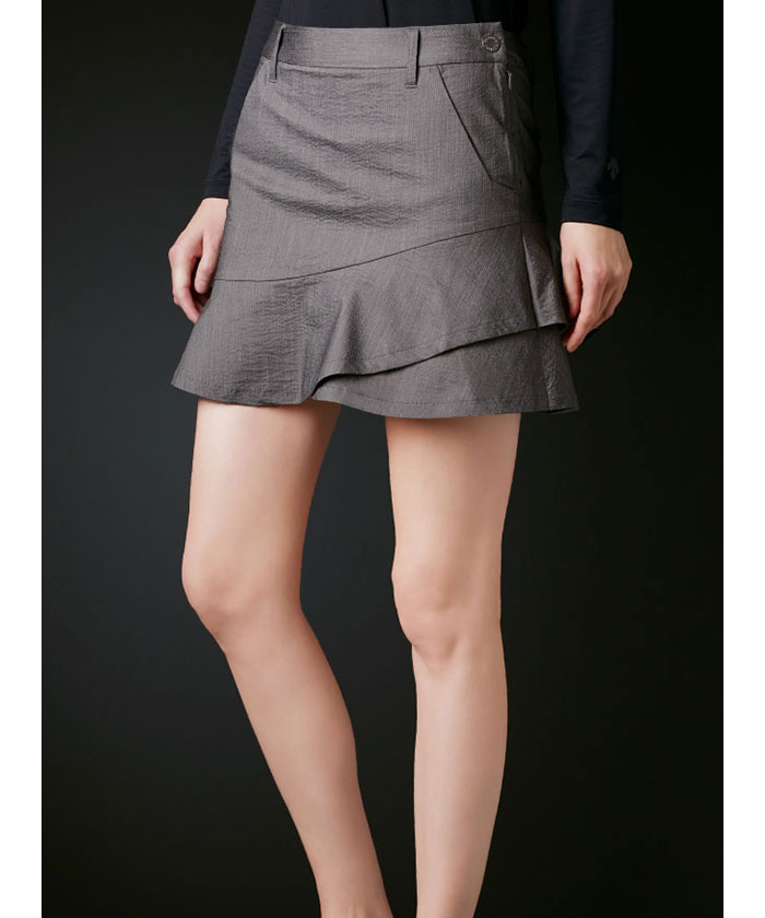 ちりめんフレアスカート【UV】