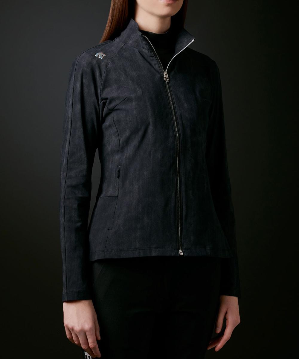 【LUXE】メリルハイテンションクリスタルロゴジャージージャケット【UV】