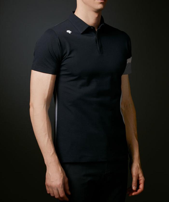 オーガニックアイスコットン100%鹿の子切り替えシャツ【ECO】【UV】